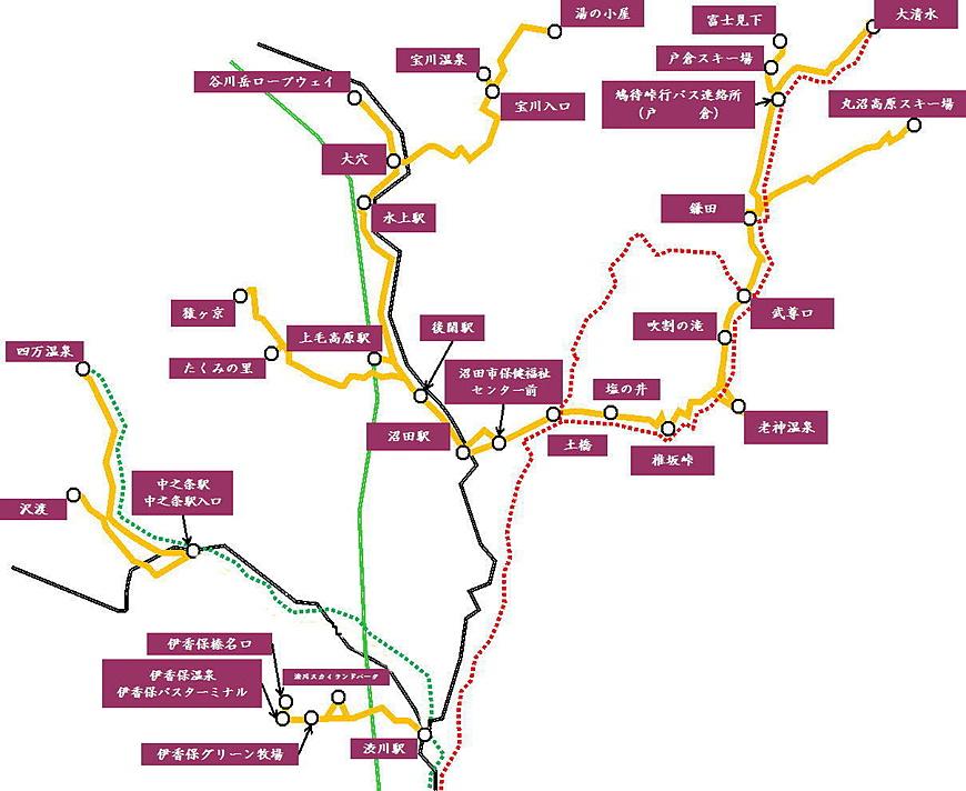 Designated route map